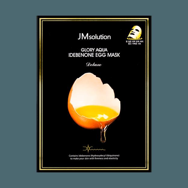 Product Detail - JM SOLUTION Glory Aqua Idebenone Egg Mask Deluxe 10 Sheets - image  0