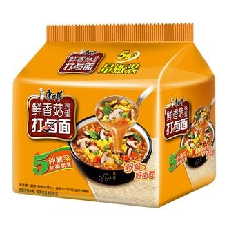 MASTER KONG Mushroom Flavored Instant Noodle 5Packs 490g