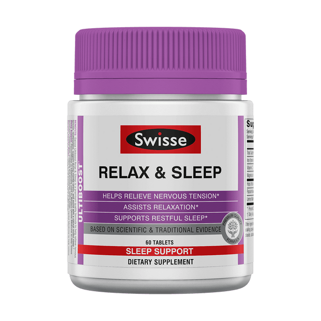SWISSE ULTIBOOST RELAX & SLEEP 60 TABS