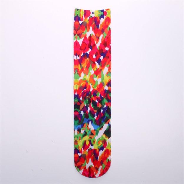 商品详情 - 独角定制 双面3D印花袜 男女士全棉袜子创意趣味艺术袜 彩绘 1双 - image  0