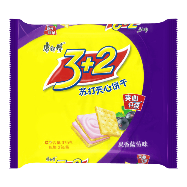 Product Detail - 3+2 Soda Biscuit Blueberry 375g - image  0
