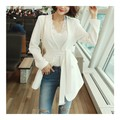 WINGS Collarless Single-Breasted Jacket With Belt #Ivory M(36)