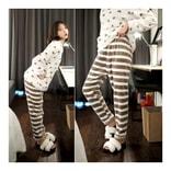 MAGZERO [限量销售] 可爱风睡衣睡裤套装 #可可色 均码(S-M)