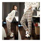 韩国正品 MAGZERO 可爱风睡衣睡裤套装 #可可色 均码(S-M) [免费配送]