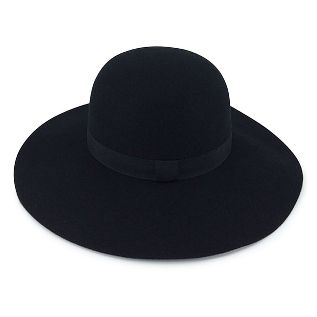 "Product Detail - ACCESS HEADWEAR【Autumn New】Wide Brim 4"" Bowler Felt Hat Women #Black One Size - image 0"