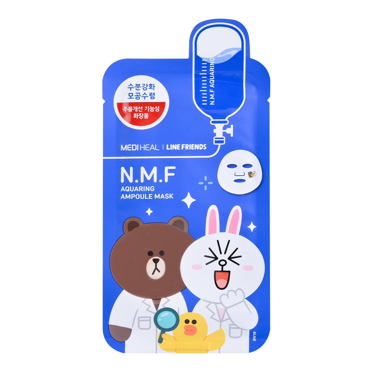 Yamibuy.com:Customer reviews:MEDIHEAL X LINE FRIENDS N.M.F Aquaring Ampoule Mask 1sheet