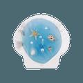 可爱INS风 拍照必备 立体贝壳小蜡烛 蓝色贝壳