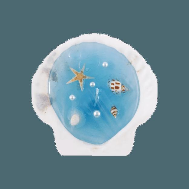 商品详情 - 可爱INS风 拍照必备 立体贝壳小蜡烛 蓝色贝壳 - image  0