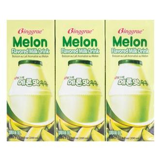 韩国BINGGRAE宾格瑞 哈密瓜牛奶 6盒装