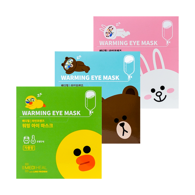 Product Detail - 【3 Packs】X LINE FRIENDS Warming Eye Mask 30 Pieces In Total #Citrus+Lavender+Unscented - image  0
