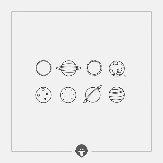 Product Detail - @BECOME Original Tattoo Stickers planets Three Piece - image 0