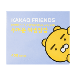 Korean KAKAO Friends Sanitary Disposable Plastic Glove One Size 400pcs