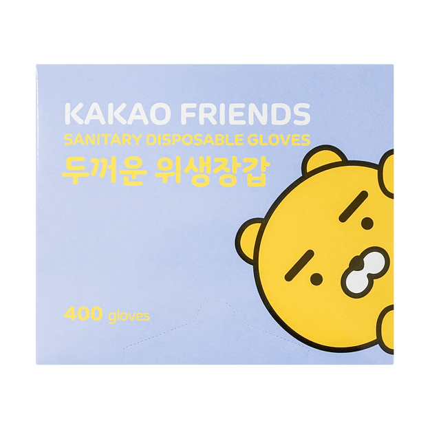 Product Detail - Korean KAKAO Friends Sanitary Disposable Plastic Glove One Size 400pcs - image 0