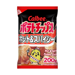 CALBEE Potato Chips Hot and Spicy Mega Size 200g