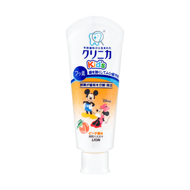 Product Detail - Japan Mickey Kid\'s Toothpaste #Peach 60g - image  0