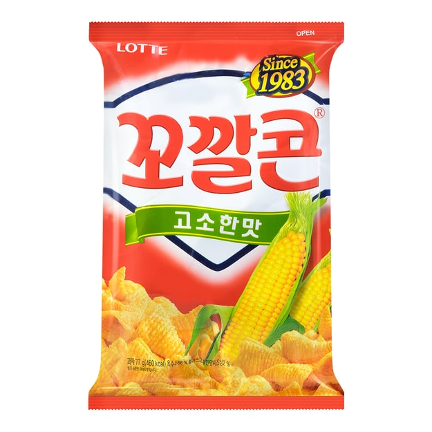 Product Detail - LOTTE Original Flavor Corn Snack 72g - image 0