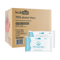 75% Alcohol Wipes with Aloe 6+6. 6 Packs Of Regular Package (50pcs/pack) & 6 Packs Of Travel Size (10pcs/pack)
