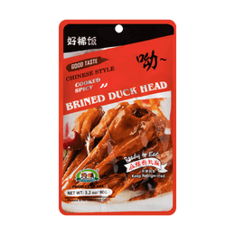 CHUNWEI SPICY BRINED DUCK HEAD  90g