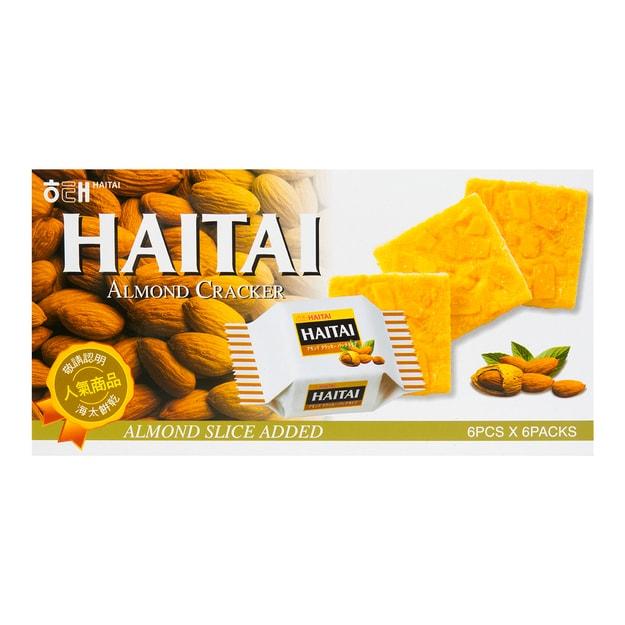 商品详情 - 韩国HAITAI海太 营养香酥杏仁饼干 6包入 133g - image  0