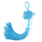 INK WASH Blue Color Chinese Knot Car Mirror Hanging Decoration