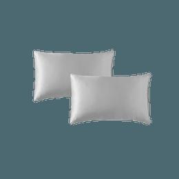 【美仓发货 5-7日达】网易严选 真丝枕套 不与螨虫一起睡 灰色 2件装