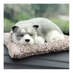 LORDUPHOLD Car Interior Decoration Dog Decor Car Ornament ABS Plush Dogs Shake Head Simulation Sleeping Dog Toy 1 pcs