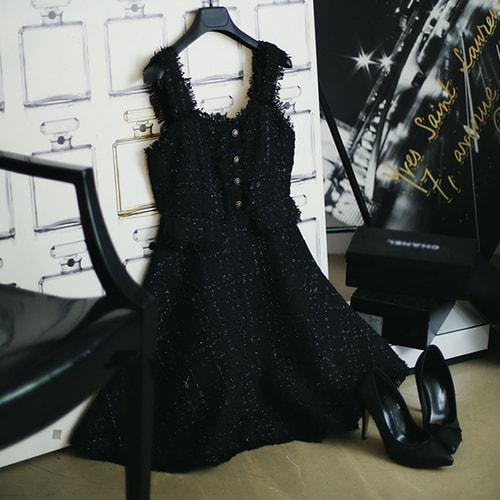 Prinstory 2018 Fallwinter Rough Stripe Dress Blackm Yamibuy