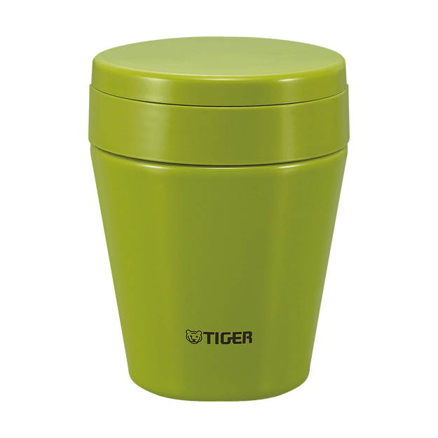 TIGER Stainless Steel Thermal Vacuum Insulated Food Jar Soup Cup Olive Green 300ml MCC-C030