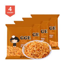WEILIH GOOD GOOD EAT Wheat Cracker Original Ramen Flavor 80g (Random Delivery of 2 Packaging) * 4