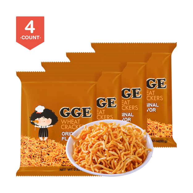 Product Detail - GOOD GOOD EAT Wheat Cracker Original Ramen Flavor 80g (Random Delivery of 2 Packaging) * 4 - image  0