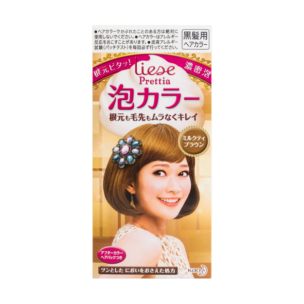 KAO LIESE PRETTIA Bubble Hair Dye #Milk Tea Brown 1Set