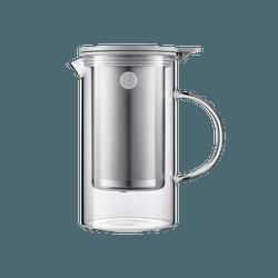 北鼎BUYDEEM 家用办公304不锈钢玻璃透明耐热冲茶泡茶壶 茶水分离 800ml