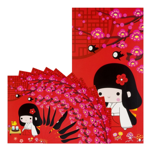 【Clearance】Chinese Cartoon Red Envelope Quiet Girl 10pcs