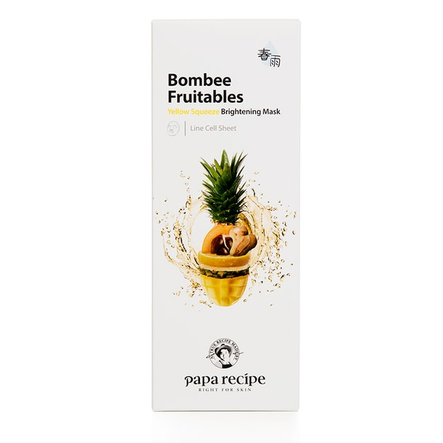 Product Detail - PAPA RECIPE Bombee Fruitables Yellow Squeeze Brightening Mask 10 sheet - image 0