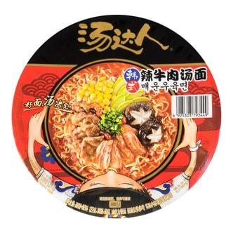 台湾统一汤达人 韩式辣牛肉汤面 碗装 127g