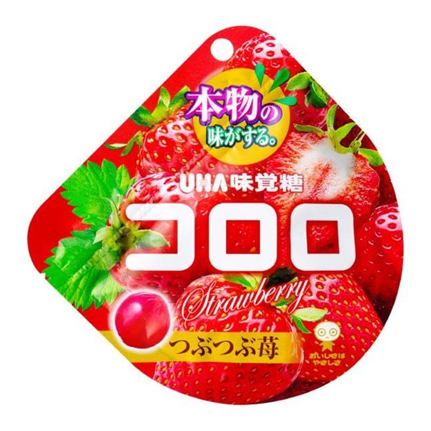 商品详情 - 【日本直邮】DHL直邮3-5天到 UHA悠哈味觉糖 冬季限定 全天然果汁软糖 草莓味 48g - image  0