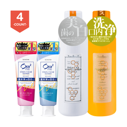 SUNSTAR ORA2 Stain Removal Toothpaste Peach Mint*1 Natural Mint*1 + PROPOLINSE Mouth Wash Original*1 Whitening*1
