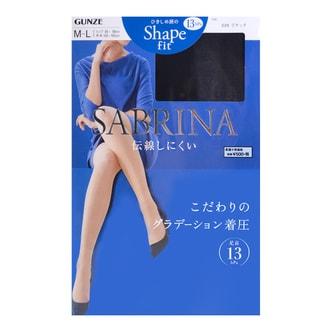 GUNZE SABRINA Shape Fit Stocking #026 Black M-L 1pc
