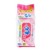 [日本直邮] 日本WAKODO和光堂 桃子先生便携除菌手口专用湿巾 40片 20片×2包