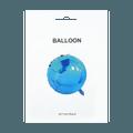 名创优品Miniso 圆形气球 #蓝色