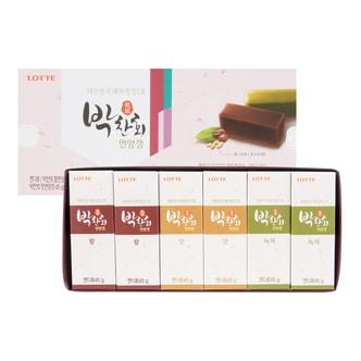 韩国LOTTE乐天 什锦布丁糕礼盒 红豆布丁糕x2+松子布丁糕x2+抹茶布丁糕x2 6枚入 270g