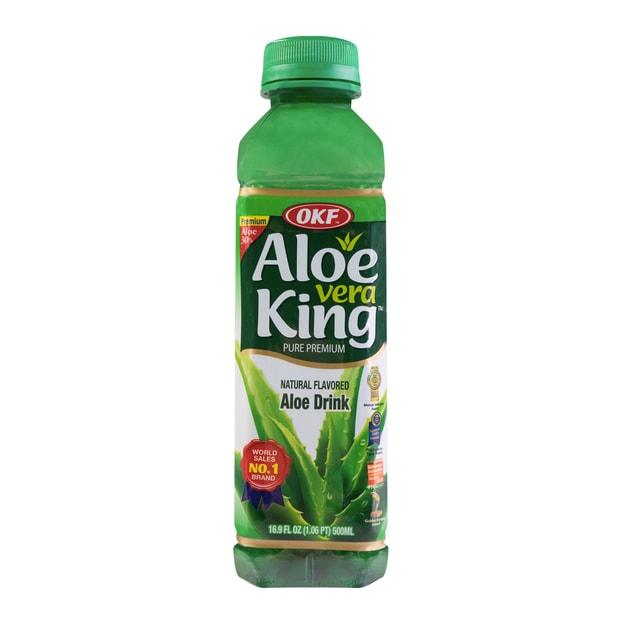 商品详情 - 韩国OKF ALOE VERA KING 天然蜂蜜芦荟汁 添加果肉 500ml - image  0