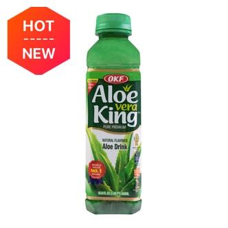 韩国OKF ALOE VERA KING 天然蜂蜜芦荟汁  500ml  添加果肉