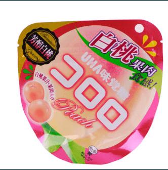 UHA Fruit Candy Peach 48g