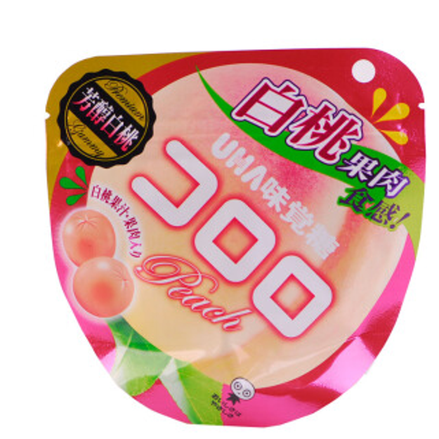 Product Detail - UHA Fruit Candy Peach 48g - image 0