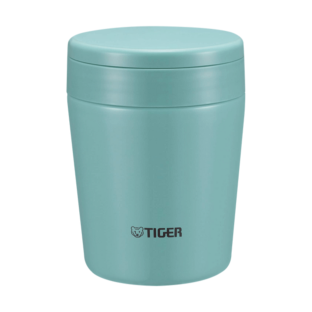 Product Detail - TIGER Stainless Steel Thermal Vacuum Insulated Food Jar Soup Cup #Mint Blue 300ml MCL-A030 - image 0