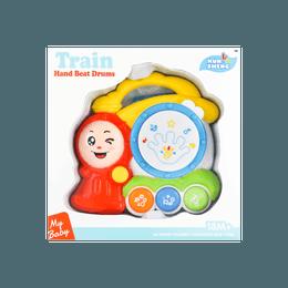 儿童玩具 火车手拍鼓 带音乐和彩色灯光