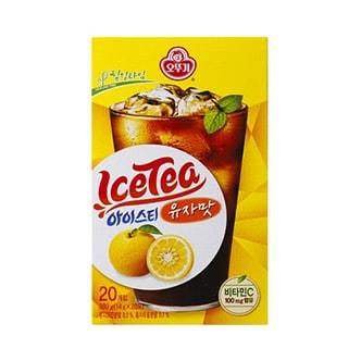 韩国OTTOGI不倒翁 即溶冰红茶 柚子味 20包入