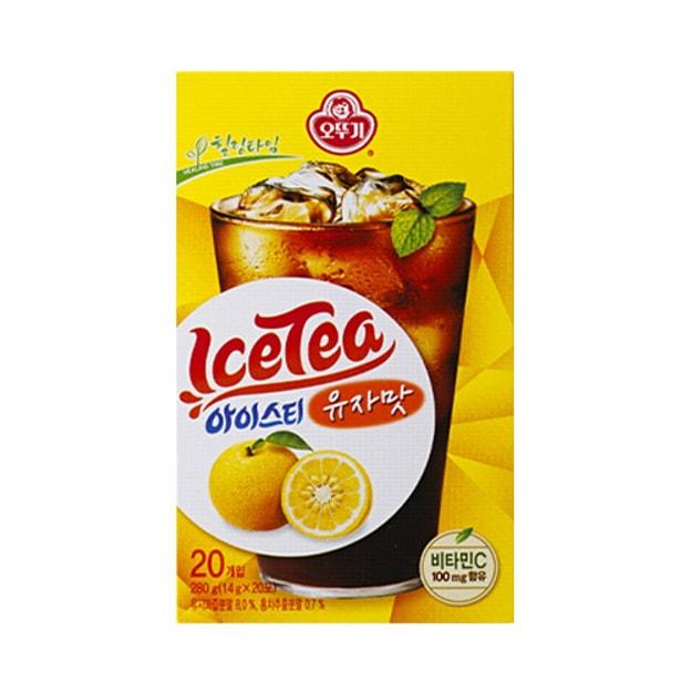 商品详情 - 韩国OTTOGI不倒翁 即溶冰红茶 柚子味 20包入 - image  0