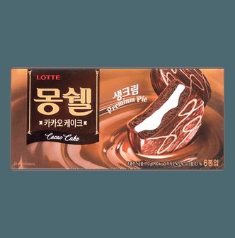 韩国LOTTE乐天 蒙西派 梦雪巧克力蛋糕派 6包入 192g